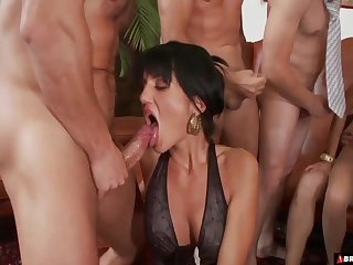 MILF whores Sarah Twain with an increment of Stacy Silver fuck every flannel onwards party
