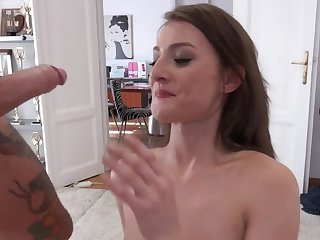 Katy Rose passes porn casting of Rocco Siffredi and John Price