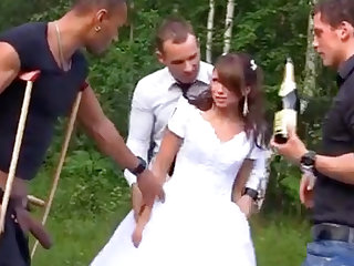 XXX Bride with Foursome Gangbang