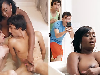 Black stepmom procurement double-teamed by her stepsons
