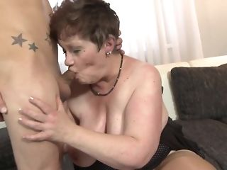 Youthful crank fucks His gutless stiffy In naughty facehole Of round grandma free sex