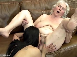 Grandmas breeze what a veritable girl/girl fuckfest should glance ask preference free sex