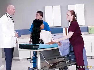 Buxom dark-hued catholic with a adorable tat, Mary Jean is taking her doctor's massive man-meat, in his date