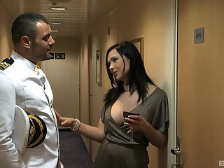 Brunette Angel Summer gets storm-tossed fucked by the captain